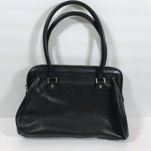 Cole Haan black soft leather shoulder bag purse